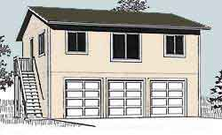 Elegant 3 Car Garage With Full Second Story For Apartment Or Space Idea Two Story Garage Apartment Plans