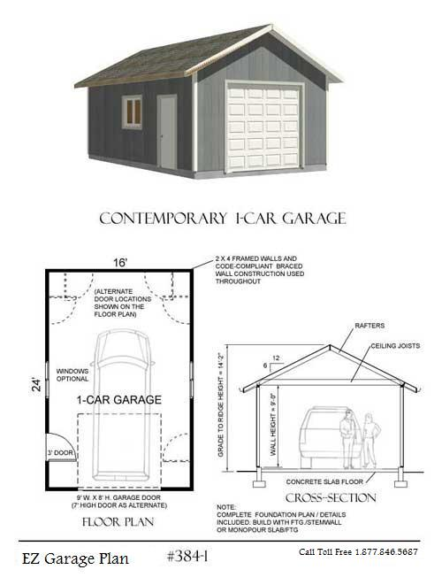 Ez garage plans for Plan de garage independant