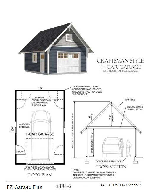 16x24 garage plans pictures to pin on pinterest pinsdaddy for Garage foundation plans