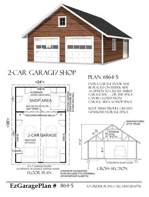 Free home plans garage plan prices for Prefab garage plans