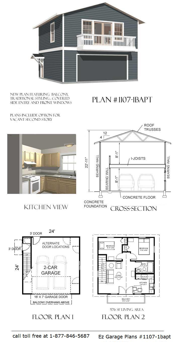 Ez garage plans for Apartment over garage floor plans
