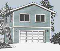 #1152-1 - 24' x 24'. Plans only $279.95. 24' x 24 two story garage ...